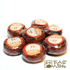 Пуэр прессованный в мандарине, 2009 г. (шу)