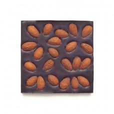 Шоколад горький, 72% какао, на финиковом пекмезе, с жареным миндалём 90 гр.