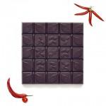 Шоколад горький, 72%, С красным перцем Эксплет, 90 гр.